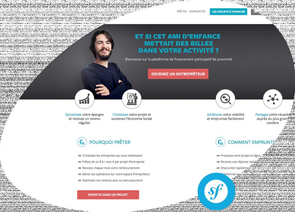 Plateforme web Les Entreprêteurs Conception et réalisation d'une plateforme en ligne de financement participatif aux entreprises Les Entreprêteurs.