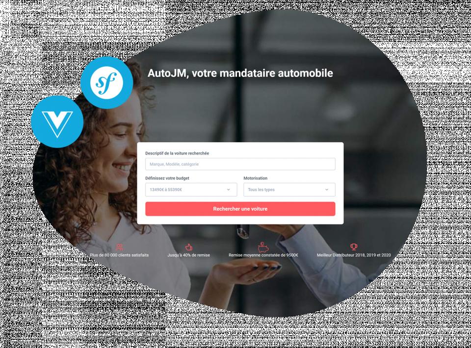 AutoJM 2.0 Refonte graphique et technique pour le mandataire automobile