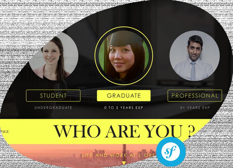 Plateforme de recrutement L'Oréal Careers Conception et réalisation de la plateforme de recrutement en ligne L'Oréal
