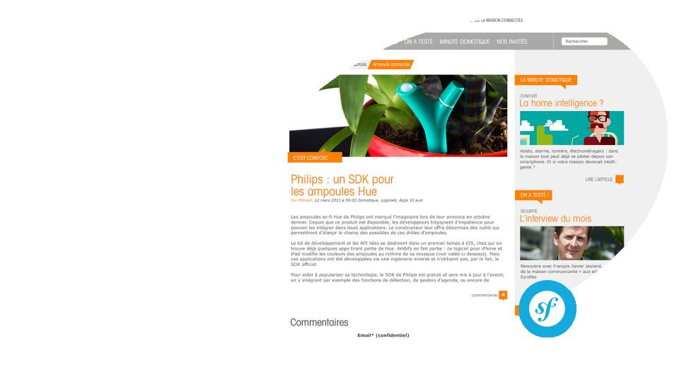 """Magazine en ligne """"Home intelligence and you"""" Somfy Conception et réalisation d'un magazine en ligne pour Somfy"""