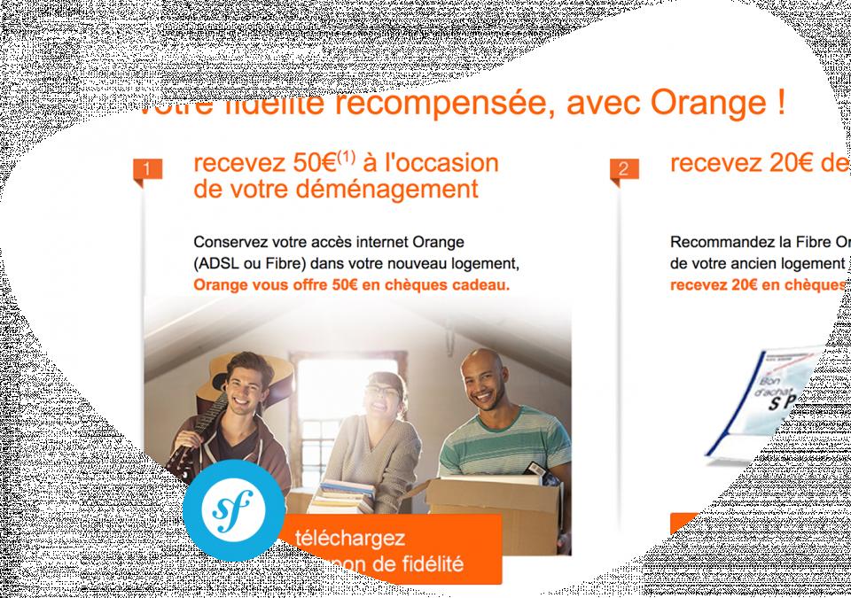 Site internet pour la fibre Orange Conception et réalisation du site internet de campagne fibre Orange