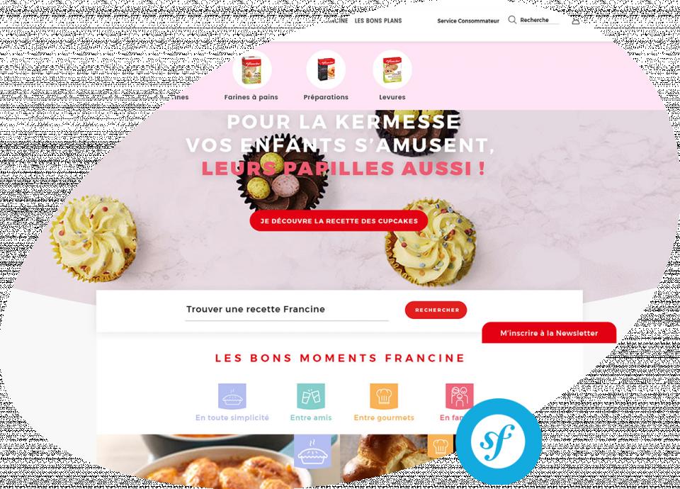 Site de marque Francine Développement d'une e-boutique et site vitrine Francine