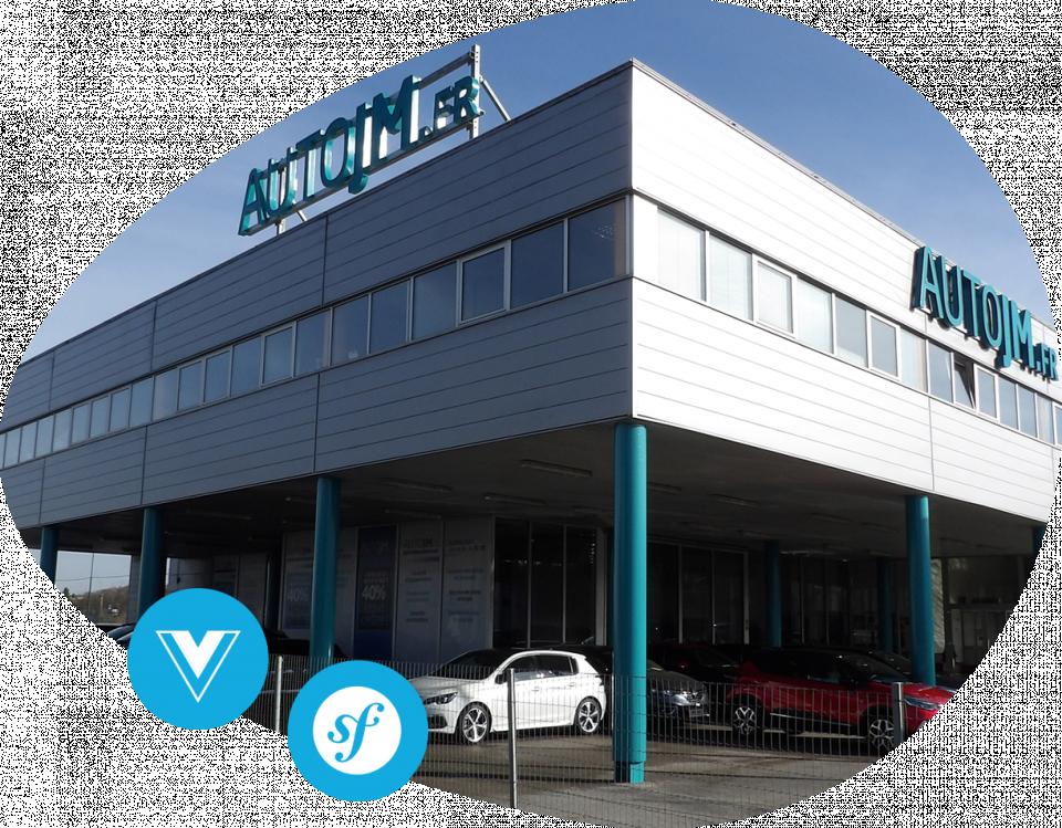 Progiciel extranet AutoJM Conception et réalisation d'un progiciel de gestion des stocks automobiles pour AutoJM
