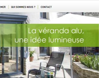 Site internet promotionnel Véranda Alu : Création du site internet promotionnel Véranda Alu pour l'association AAA