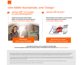 Site internet pour la fibre Orange : Conception et réalisation du site internet de campagne fibre Orange